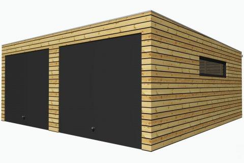 Montovaná dvojgaráž 5,7x6,3 m