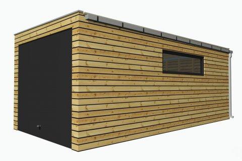 Dřevěná garáž 6,3x3 m