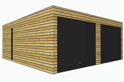 Dřevěná dvojgaráž 6,3x6 m
