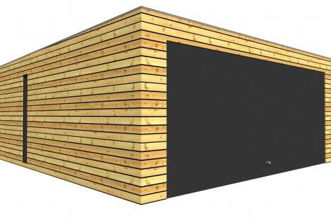 Montovaná dvojgaráž se společnými vraty 5,7x6,3 m