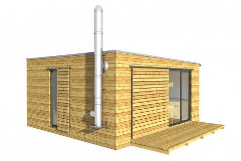 Modulový dům 6x6 m