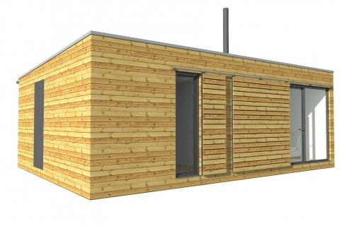 Modulový dům 8x6 m