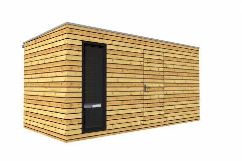Venkovní dřevěná sauna 5x2,5 m